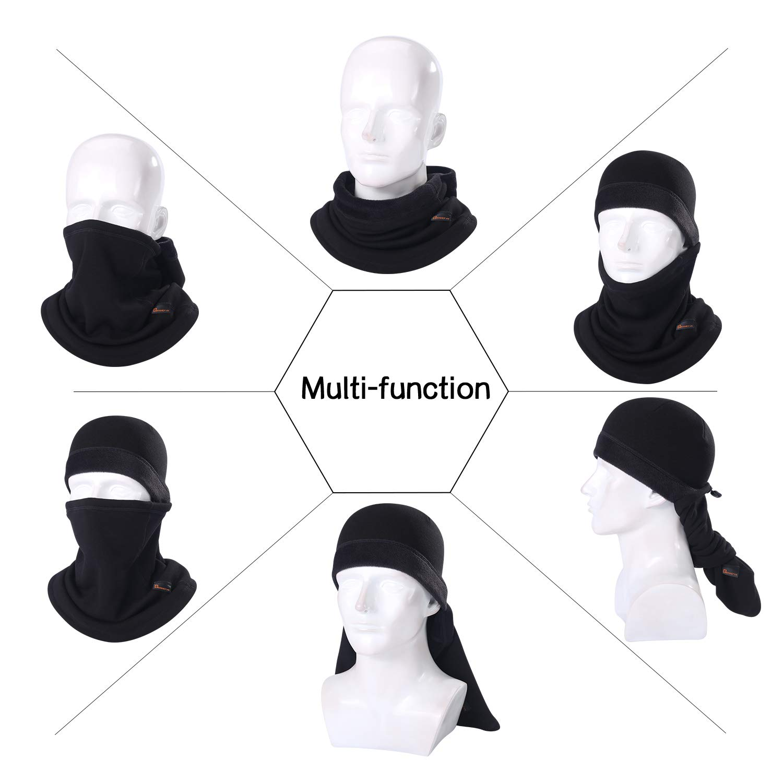 Windproof Cold Weather Face Mask Winter Fleece Hood for Men and Women B BINMEFVN Balaclava Ski Mask