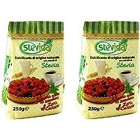 Stevida, Dolcificante di Origine Naturale a Base di Stevia - 2 x 250gr - Novarese Zuccheri