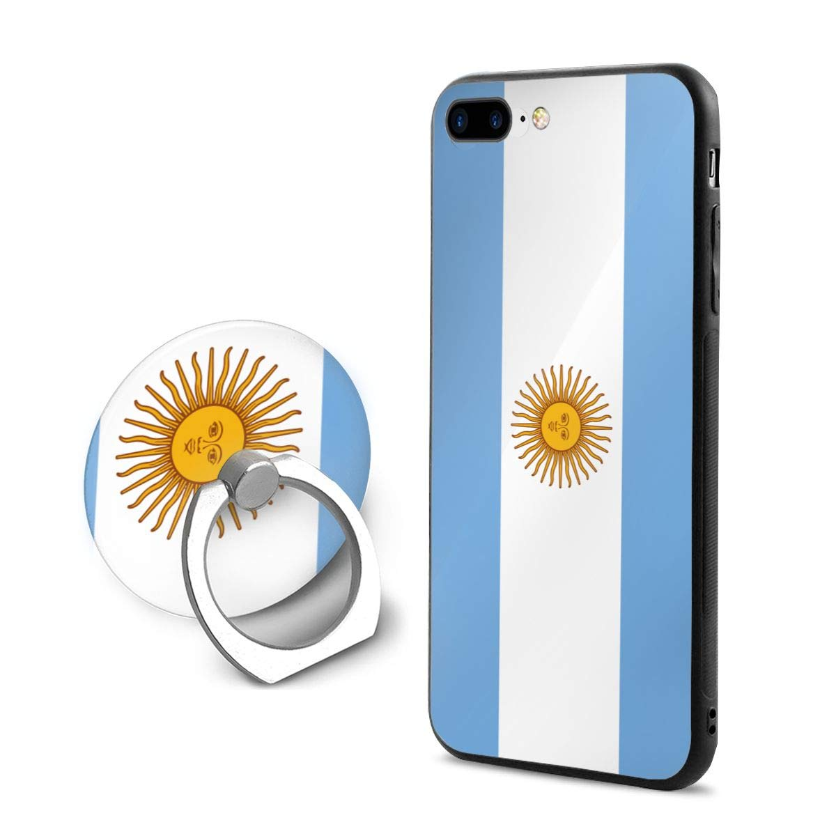 bbc9dcf62cc Flag of Argentina iPhone 7 Plus Case, iPhone 8 Plus Case, and Finger Ring  Holder Kickstand Full Protective Anti-Scratch Cover Case for iPhone 8 Plus/ iPhone ...