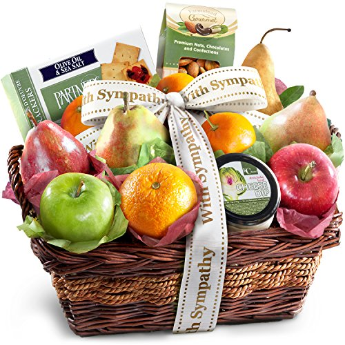 Golden State Fruit Sympathy Fruit Basket with Cheese and Nuts