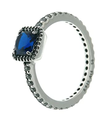 5a14ef7e2 Image Unavailable. Image not available for. Color: PANDORA Timeless  Elegance Ring, Blue ...