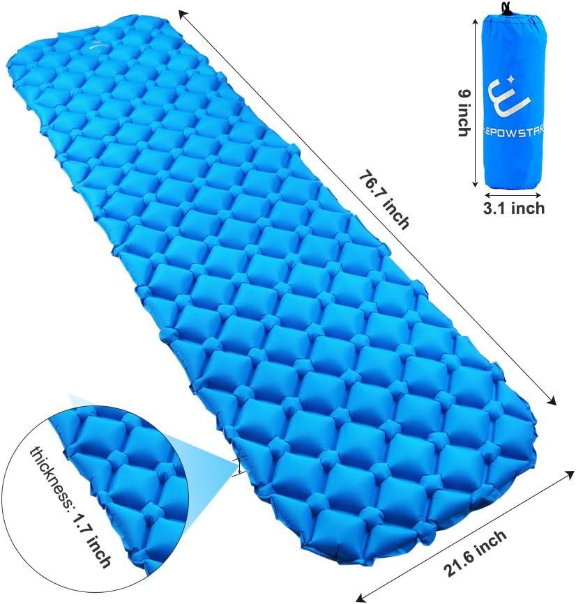 Alvivo Tapis Sleep Confort 7,5 Matelas isolant Bleu