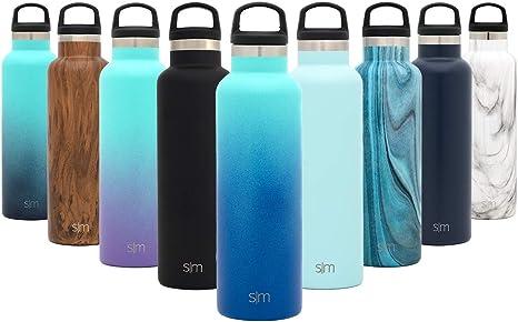Simple Modern Ascent 500mL (17oz) Botella De Agua - Acero Inoxidable 18/8, Doble Pared y Aislamiento Al Vacío Jarra Petaca CantimploraDos Tonos: ...