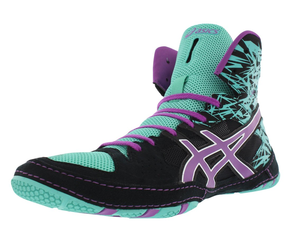 ASICS Men's Cael V7.0 Wrestling Shoe, Black/Orchid/Turquoise, 9 M US by ASICS