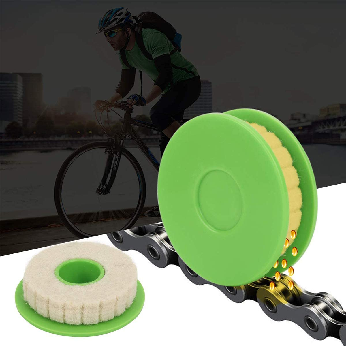 Strumento di Pulizia della Bici Kit di manutenzione degli ingranaggi della catena della bicicletta Strumento per la manutenzione della catena della bicicletta