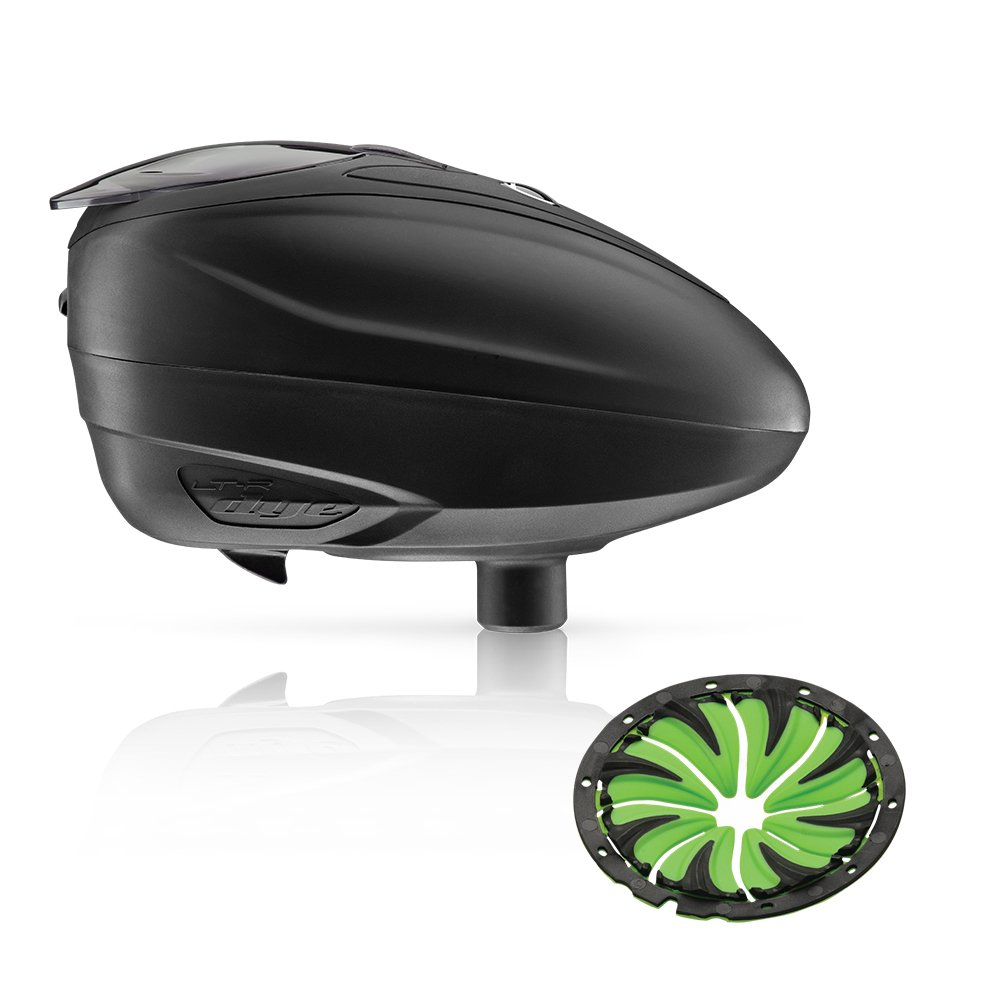 Dye LT-R Electronic Paintball Loader (Black with Lime Quick Feed)