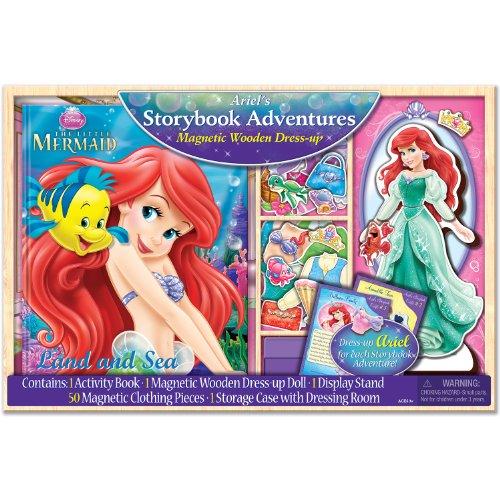 Bendon Disney Princess Magnetic Dress-Up and Storybook Set (50-Piece) - 35 Piece Sticker Set