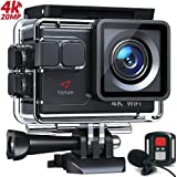 Victure Action Camera AC700 4K 30fps/20MP EIS Sports Action Camera PC Webcam with External Microphone Remote Control 40M…