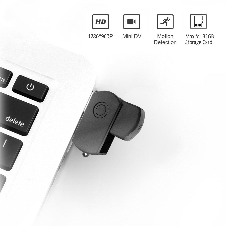 JZ Grabadora de Video USB Mini DV Gadget espía Alta definición 1280 * 960P: Amazon.es: Bricolaje y herramientas