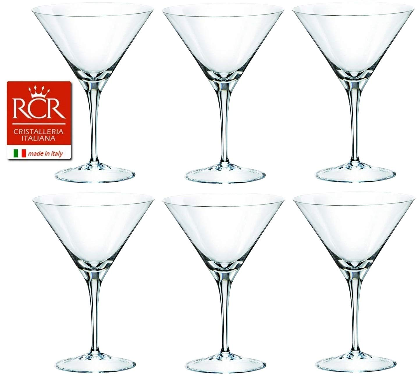 RCR Cristalleria Italiana Invino Crystal Glass Drinkware Set (Martini [12 oz.]) by RCR Cristalleria Italiana (Image #1)