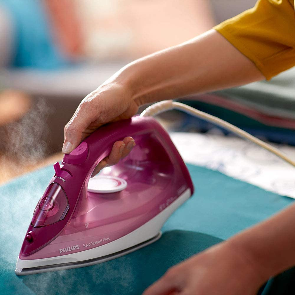 Philips EasySpeed Plus Iron with 150g Steam Boost, 2400W and Ceramic Soleplate - Blue/White - GC2145/29 Purple