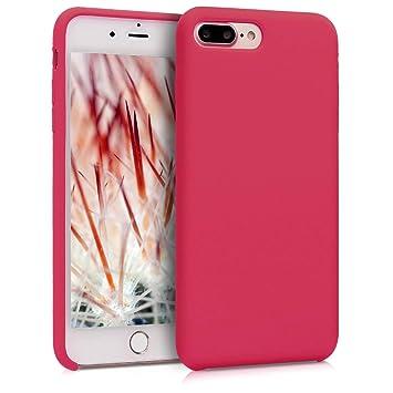 kwmobile Funda para Apple iPhone 7 Plus / 8 Plus - Carcasa de {TPU} para teléfono móvil - Cover {trasero} en {fucsia}