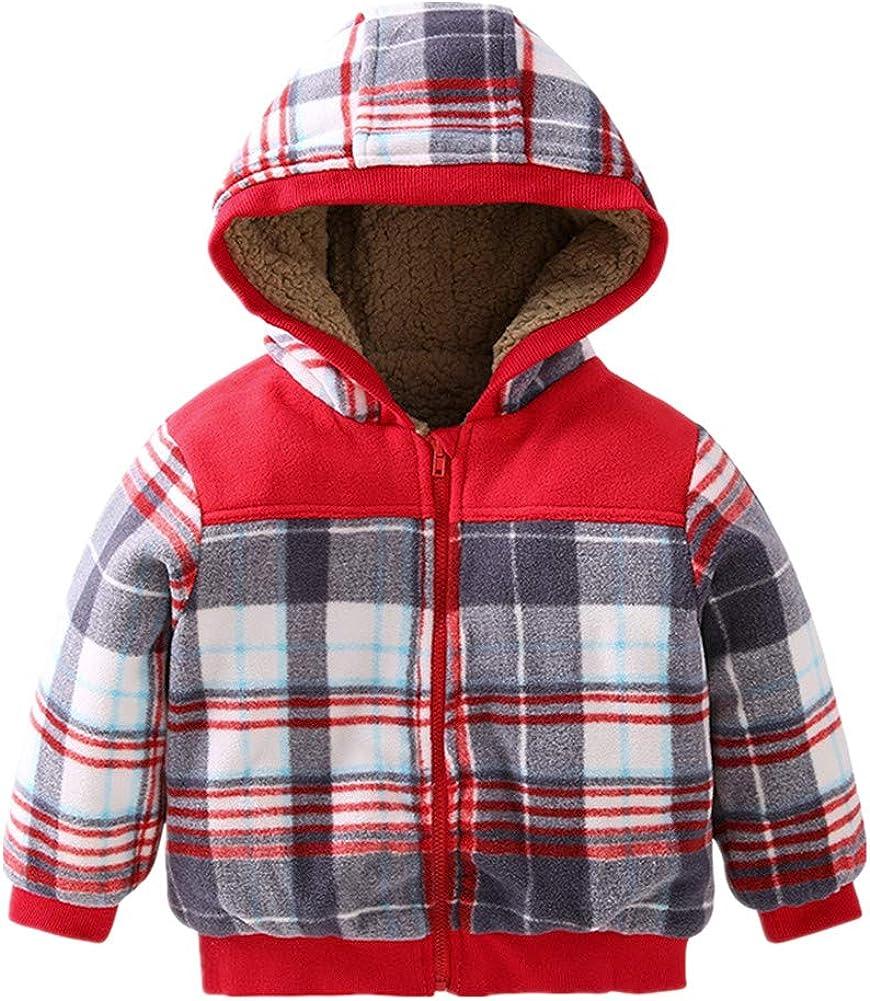 Beide Baby Boys Girls Winter Fleece Jacket Coat Hooded Warm Outwear