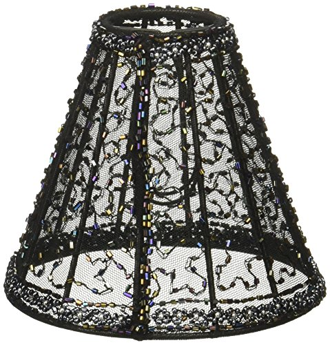 Crystorama 3SH Transitional Mini Shade from Mini Shade collection in Blackfinish, (Beaded Shade Mini)