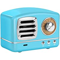 Retro Blue Tooth Speakers,Teepao Portable Rechargeable Handheld Multi-Function Wireless Speaker,Handsfree Call,AUX Line, USB Flash Drive, TF Card/Micro SD Card,with HD Sound & Bass Fm