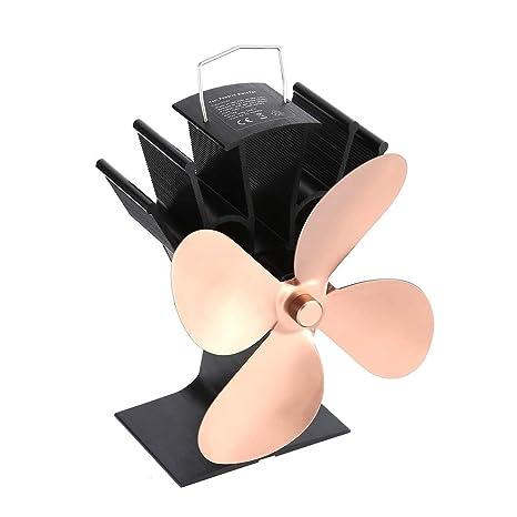 Amazon.com: Ventilador térmico para estufa de leña, quemador ...