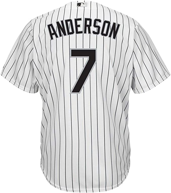 GHQROGBY Camisetas Personalizadas Beisbol Major League Baseball Chicago White Sox No. 7 Camisa Bordada a Rayas Tim Anderson, tamaño: M-3XL,Men-M: Amazon.es: Deportes y aire libre