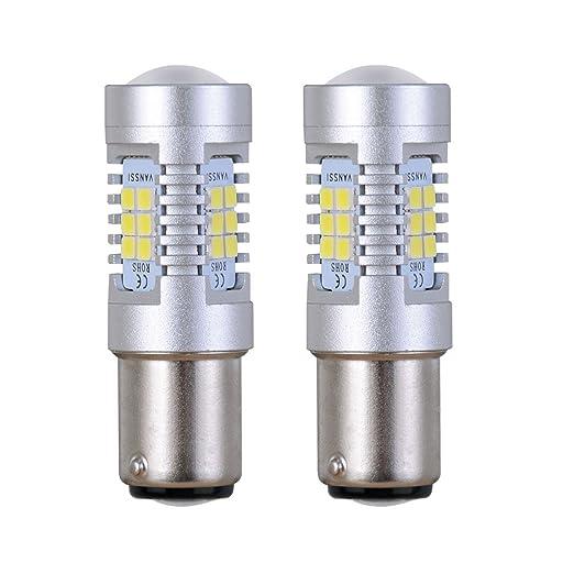 49 opinioni per 1157 BAY15d LED di coda le luci di arresto dei freni lampadina LED 21-SMD ad