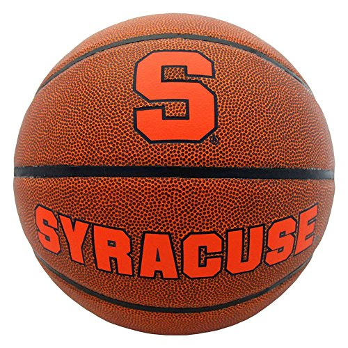 Syracuse Orange Mens Composite Leather Indoor Outdoor Basketball