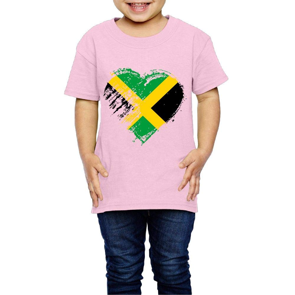 Grungy I Love Jamaican Heart Flag 2-6 Years Old Children Short-Sleeved T Shirts
