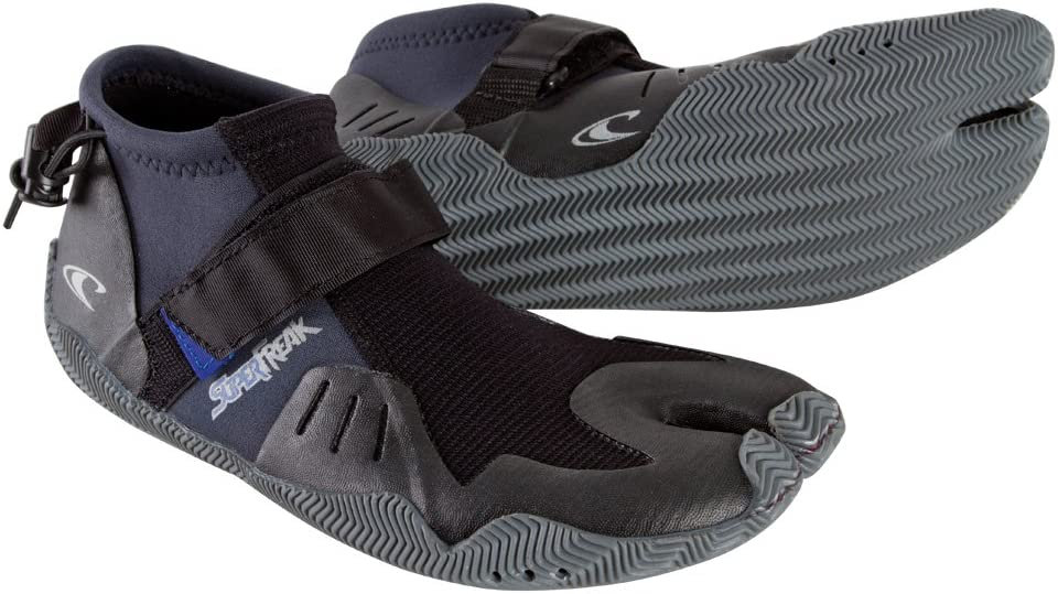 split toe wetsuit boots with short cuff