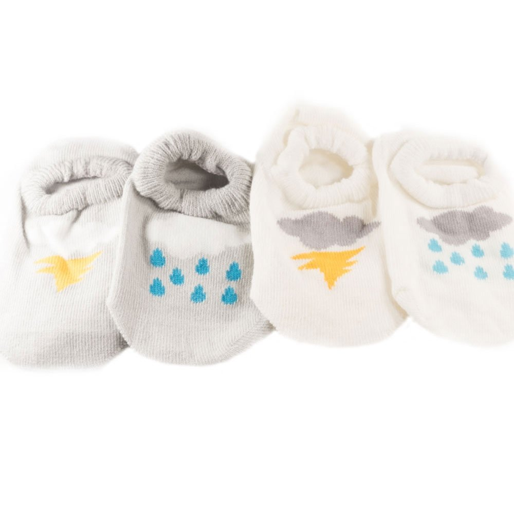 MonkeyEAT Baby Anti Slip Thunderstorm Rain Socks Set of 2 Pairs