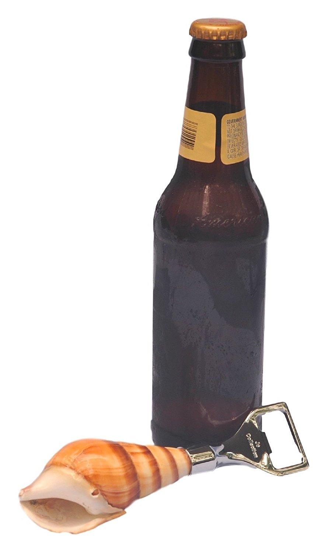 Genuine Magpie Turbo Shell cerveza abridor de botella por J.O. colección para los amantes de la orilla regalo: Amazon.es: Hogar