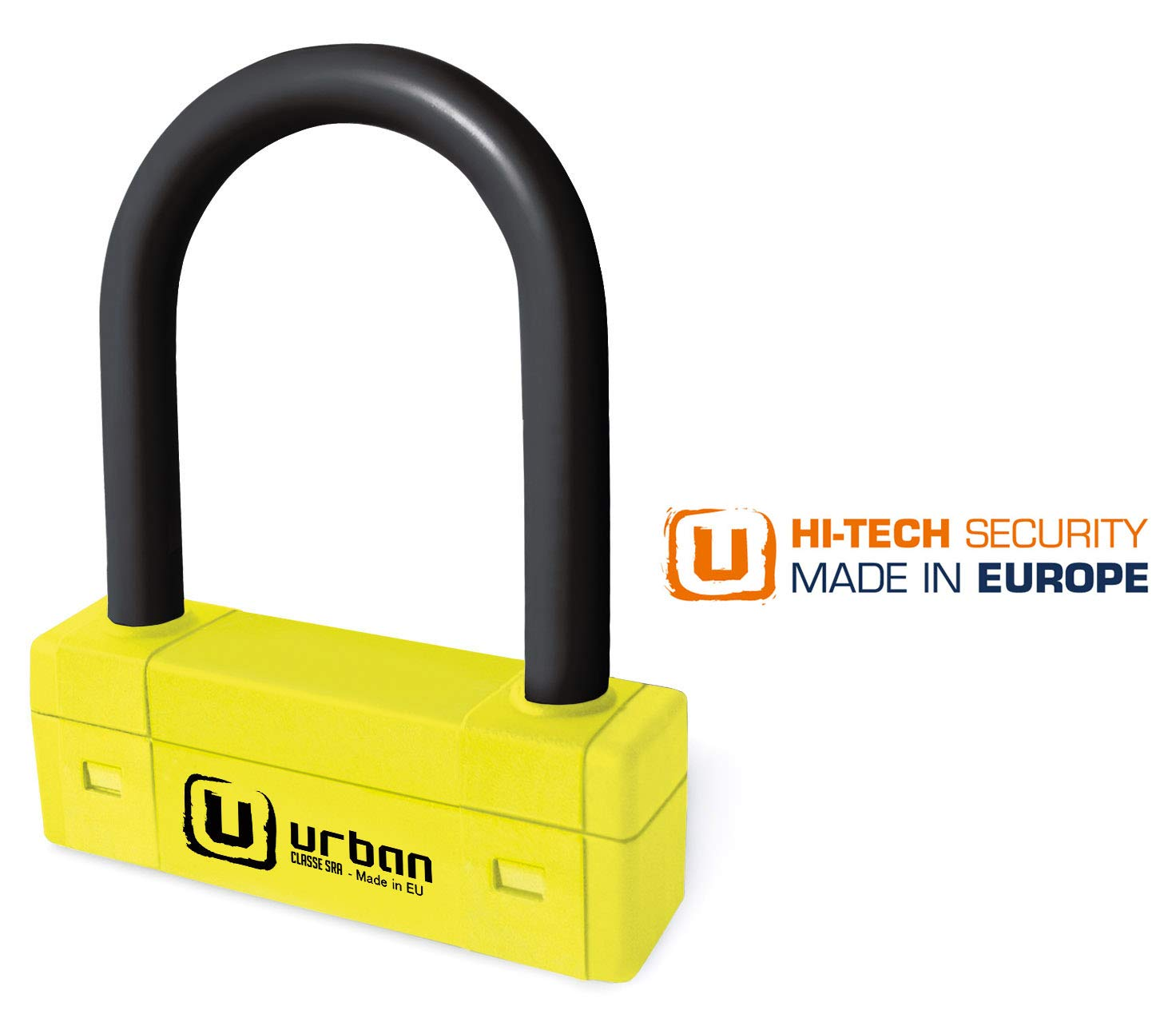 Doble Cierre /ø18 85x250 mm 85x250 Made in EU Urban Security UR85250Y Candado Antirrobo U Alta Seguridad homologado Sra