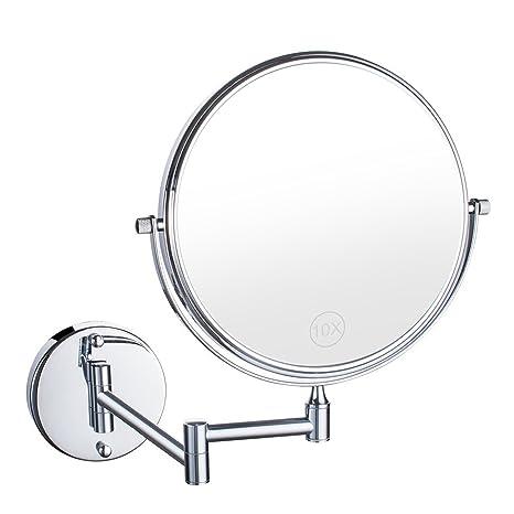 Specchio Ingranditore Da Bagno.Specchio Ingranditore Da Trucco Yevita Specchio Da Bagno Ingrandente 10x 8 Pollici Specchi Da Parete Con Ingradimento Ruota Di 360 12 Pollici