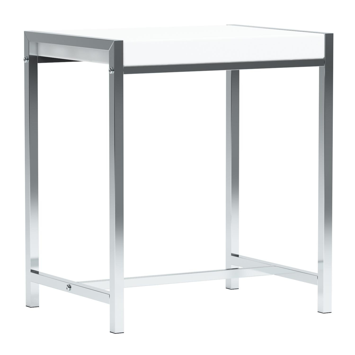 Monarch I 3050 Metal Accent Table, White Acrylic/Chrome by Monarch Specialties (Image #9)