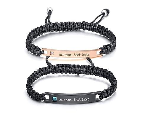 Amazon Com Mealguet Jewelry Personalized Custom Matching String