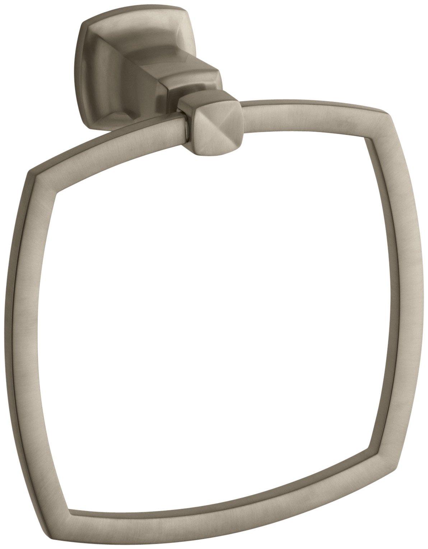 Kohler K-16254-BV Margaux Towel Ring, Vibrant Brushed Bronze by Kohler