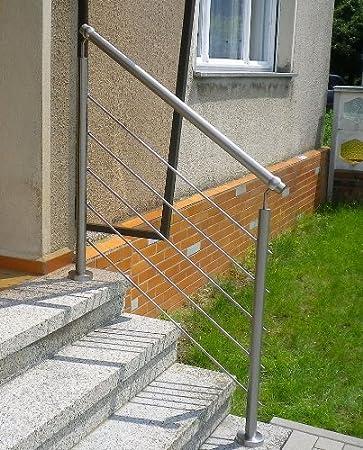 Edelstahl Handlauf Gelander Fur Treppen Brustung Balkon Mit Ohne