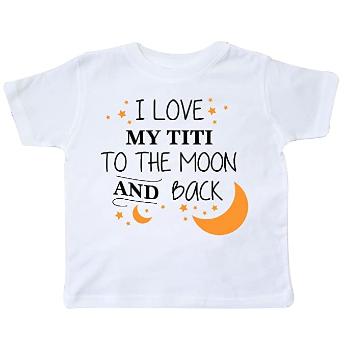 66a31414e Amazon.com: inktastic - I Love My Titi to The Moon and Back Toddler T-Shirt  29691: Clothing