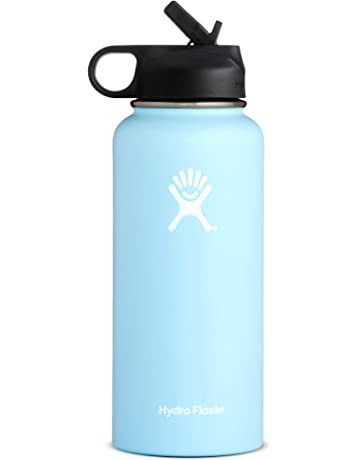 7a739f68eb Hydro Flask Water Bottle | Stainless Steel & Vacuum Insulated | Wide Mouth  with Straw Lid