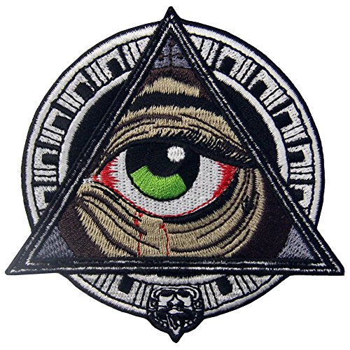 Mayan Geometric Patterns All Seeing Blooding Eye Patch Embroidered Applique Iron On Sew On Emblem