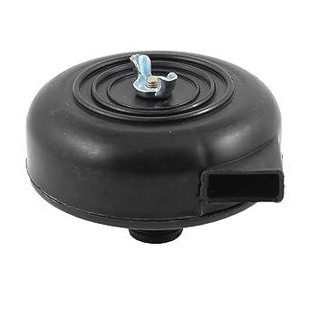 Negro 20mm de plástico roscado Silenciador de Escape Filtro de Aire Compresor