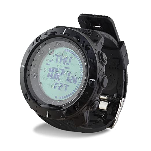 Skmei reloj Digital DEPORTE supervivencia brújula 50 m impermeable grande cara reloj de pulsera cronómetro alarma: Amazon.es: Relojes