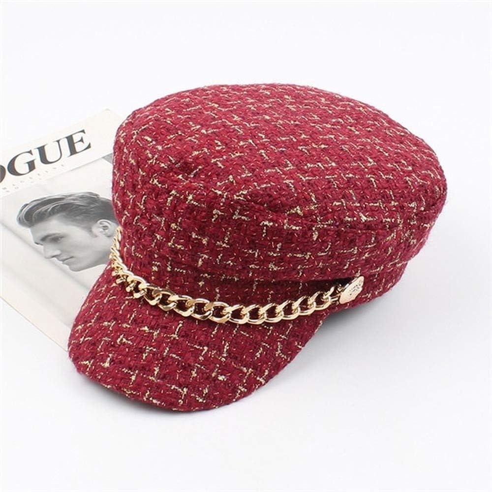 Women Hats Tweed Plaid...