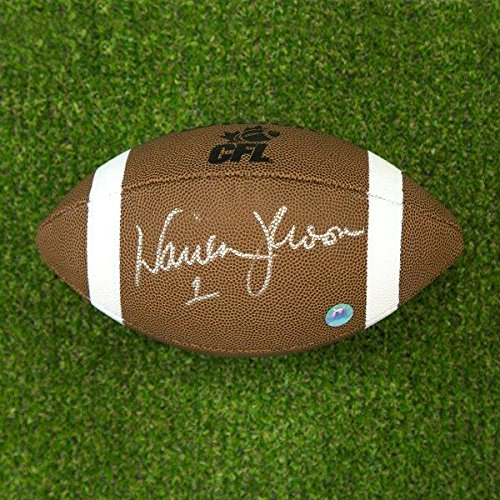Warren Moon Signed Football - Composite CFL Edmonton Eskimos - Autographed Footballs Sports Memorabilia