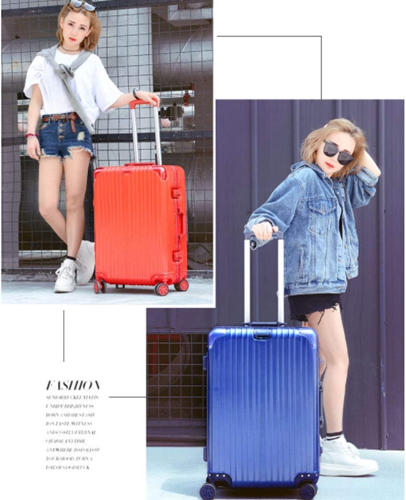 Color : Pink, Size : 26 inches654528CM HUANGDA Suitcase Trolley Case Universal Wheel Net Red Suitcase 20 Student Female 26 Password Box 24 Leather Box 22 Inch