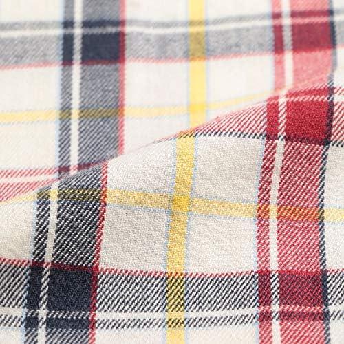 大きいサイズ メンズ 綿100% カルゼチェック 前閉じ パジャマ 上下セット ホワイト / 3L