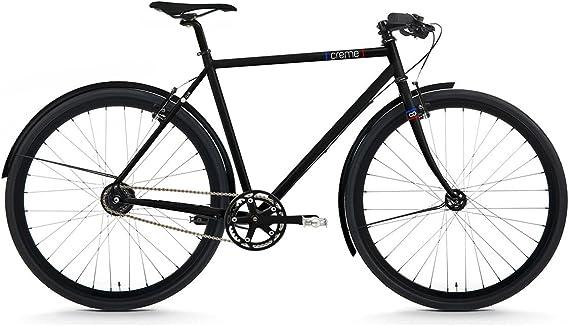 Creme BI-CRE-3108_55_1 - Bicicleta de Paseo, Talla M (165-175 cm), Color Negro: Amazon.es: Deportes y aire libre