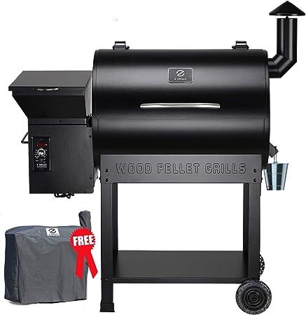 Z GRILLS Bois Pellet Grill & Fumoir avec des Cart 700 Pieds carrés en Grill Master Essential Barbecue Grill électrique avec Commandes numériques ¡