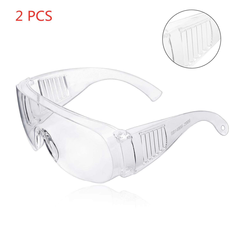 Gafas protectoras, ZHIKE gafas transparentes antivaho y antiarañazos para el trabajo y el deporte, hombres, mujeres (versión mejorada-2 PCS)