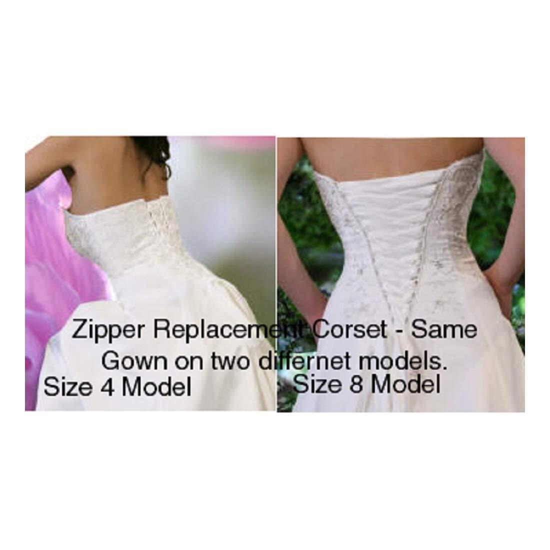 91232d5b42 Amazon.com  Wedding Dress Zipper Replacement Adjustable Fit Corset Back Kit  Lace-Up Black 12