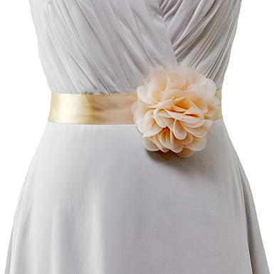 Banda TOPQUEEN tipo sinturón de pedrería para vestido de novia, tipo fajín con cristales S170-Champagne: Amazon.es: Ropa y accesorios