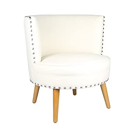 Amazon Com Joveco Fabric Leisure Accent Chair With Nailhead Design