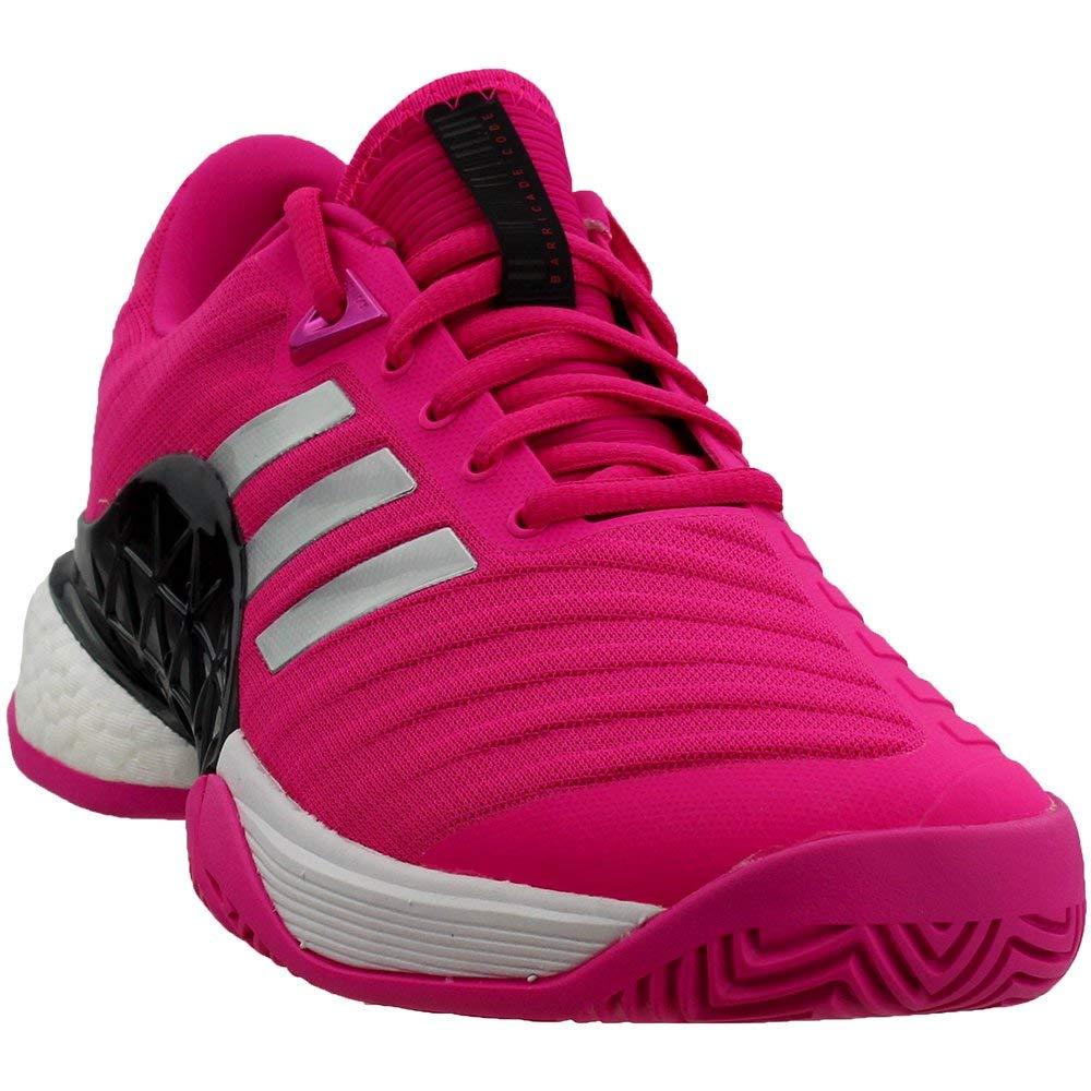 adidas Barricade 2018 Boost Shoe - Men's Tennis 6.5 Shock Pink/Silver/Legend Ink