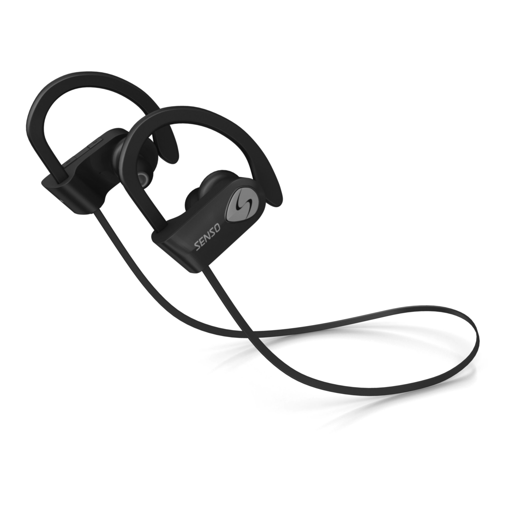 SENSO Bluetooth Headphones, Best Wireless Sports Earphones w/Mic IPX7 Waterproof HD Stereo Sweatproof Earbuds for Gym Running Workout 8 Hour Battery Noise Cancelling Headsets (Grey) by Senso (Image #5)